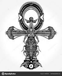анкх татуировки и футболку дизайн древний египетский крест