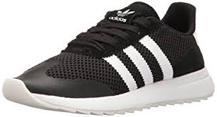 adidas shoes black and white. adidas originals women\u0027s flashback fashion sneakers, black/white/black, (10 m shoes black and white