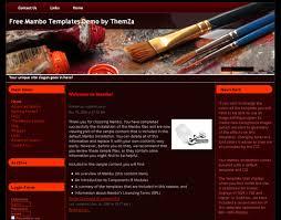 Artist Website Templates Beauteous Artist Painting Website Template Art Workshop Free Mambo Template