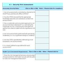 Compliance Risk Assessment Template Analysis Excel Security Project ...