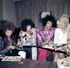 Jimi Hendrix Experience, with Roselyn Morris, summer 1967   Jimi ...