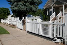 Scalloped vinyl picket fence Cape Cod Classic Victorian Picket With Scalloped Top Scalloped Rails Walk Gate And Drive Gates In Classic Victorian Picket With Scalloped Top Scalloped Rails Illusions Vinyl Fence Scalloped Archives Illusions Vinyl Fence