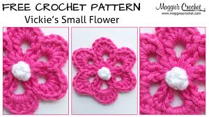 Small Crochet Flower Pattern Interesting Decorating Ideas