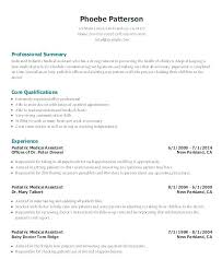 Medical Technologist Resume Sample Medical Assistant Resume Example