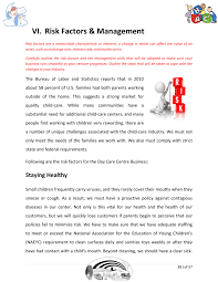 Daycare Business Plan Template Sample Pages Starting A