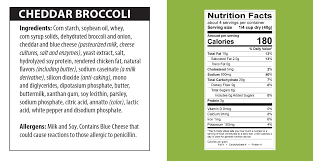 cheddar broccoli soup nutrition facts