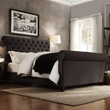 tufted upholstered sleigh bed. Wonderful Upholstered In Tufted Upholstered Sleigh Bed A