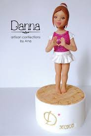 <b>Dancer</b>, <b>girl</b>. <b>Custom</b> cake topper. Sugar paste. No molds. | Artisan ...