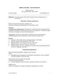 Fresh Graduate Resume Sample 22 Format For New Template 12