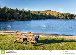 adirondack chairs lake. Delighful Chairs Download Adirondack Chairs In Front Of A Lake Stock Image  Of  Recreation Forest With N