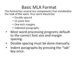 Ppt Mla Format Powerpoint Presentation Id2112000