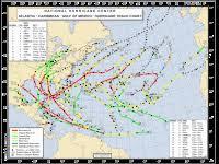 Atlantic Basin Hurricane Tracking Chart National Hurricane Center Miami Florida Atlantic Basin Hurricane Tracking Chart National