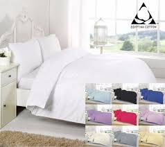 100 egyptian cotton 200tc ed flat valance sheet duvet cover cot bed pillow