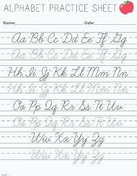 Lower Case Letter Practice Sheet Cursive Alphabet Sheet Cursive Writing Worksheets Printable Capital