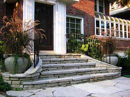 patio stairs front porch stone