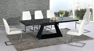 black gloss dining table extending black glass high gloss dining table and 8 white chairs regarding