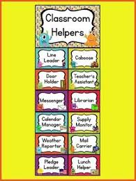 Classroom Helpers Chart Monster Theme Job Chart Monster Theme Classroom Monster