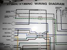 yamaha colors in antique vintage historic yamaha oem factory color wiring diagram schematic 1985 xt350n xt350nc