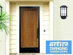 sliding screen door dog proof choice image doors design modern mesh dog proof screen door