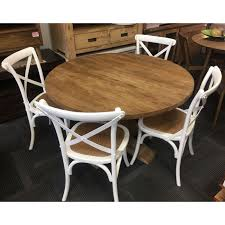 solid recycled elm 1 2 table 4 white