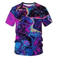Mens And Womens Shirt Size Chart Tenmet Mens Womens Casual 3d Galaxy Print Short Sleeve T Shirt Graphic Tees