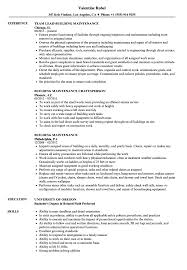 Building Maintenance Resume Building Maintenance Resume Samples Velvet Jobs 1