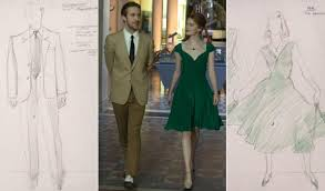 La Designs Costumes Emma Stone And Co Star Ryan Gosling Take A Stroll In Their