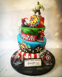 The cake was fluffy vanilla with fresh strawberry marvel cake. Marvel Cake Design Ideas About The Avengers Birthday Cake A Modern Design Chocolate Cake Covered By Chocolate Mousse And Coco Spray