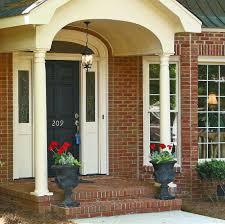 Brick Front Stoop Designs Beautiful Front Porch Designs For Brick House Plans Ideas