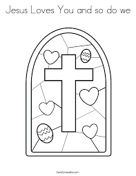 Free Coloring Pages For Jesus Loves Me Classy Jesus Loves You