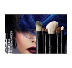 mac cosmetics look in a box advanced six piece brush kit gift set makeup new