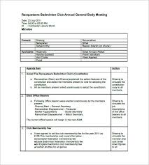 Meeting Minutes Format Example Example Of Meeting Minutes Threeroses Us