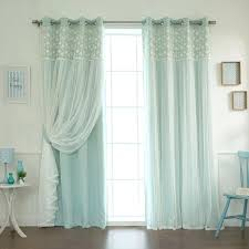 white grommet blackout curtains aurora home fl lace overlay thermal insulated blackout grommet top curtain panel