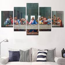 hd printed canvas modular pictures painting wall art frame last supper landscape poster living room decoration canada 2019 from zhu793737893