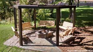 patio with fire pit and pergola. Fresh Porch Swing Fire Pit Swings Circle Patio With And Pergola