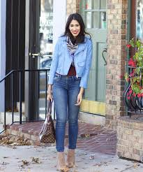 Colors To Wear With Light Blue Blog How To Wear Light Blue In The Fall Blue Leather