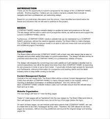 Design Proposal Sample Easy Website Proposal Template Web Proposal Template Sample Website