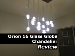 orion 16 light glass globe rectangular led chandelier lighting light review