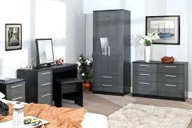 White Armoire With Drawers Bedroom Furniture High Gloss Grey Black Wardrobe  Chest Bedside I81