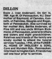 Obituary for Essie J. DILLON (Aged 49) - Newspapers.com
