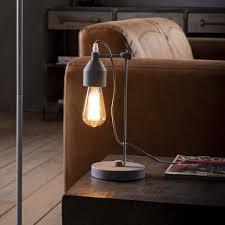Landelijke Tafellamp De Industriële Tafellamp Ronin Metaal Betonlook Belaluz