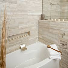 classic vein cut travertine bathroom
