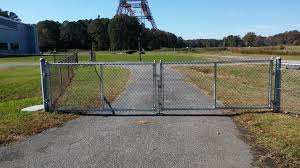 chain link fence double gate. Click To Enlarge Image Double-gate.jpg Chain Link Fence Double Gate