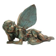 fairy olivia bronze patina collectible garden statue