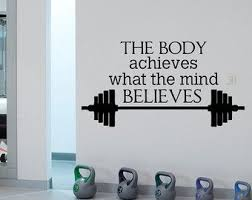 gym wall decal sports quotes the body achieves what the mind believes motivational quotes sports wall art gym fitness home decor q153 on motivational quotes for athletes wall art with sports quotes wall decals installing muscles please wait gym