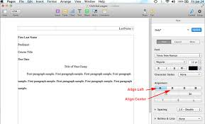 Apa Setup How To Do Mla Format Using Pages On Mac Mla Format