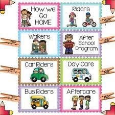 Dismissal Chart Dismissal Chart Brights Classroom Set Mrs Jones