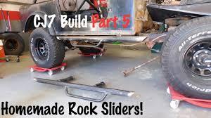 homemade side steps rock sliders jeep cj7 build part 5