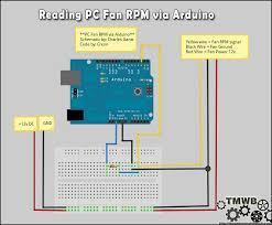 reading pc fan rpm an arduino the makers workbench wiring things up fan rpm via arduino