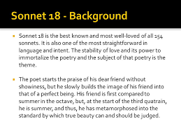 marlowe raleigh shakespeare and donne ppt  sonnet 18 background